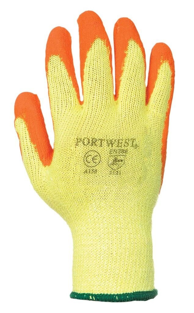 Portwest UA150Y1RM Regular Fit Fortis Grip Glove, Medium, Yellow