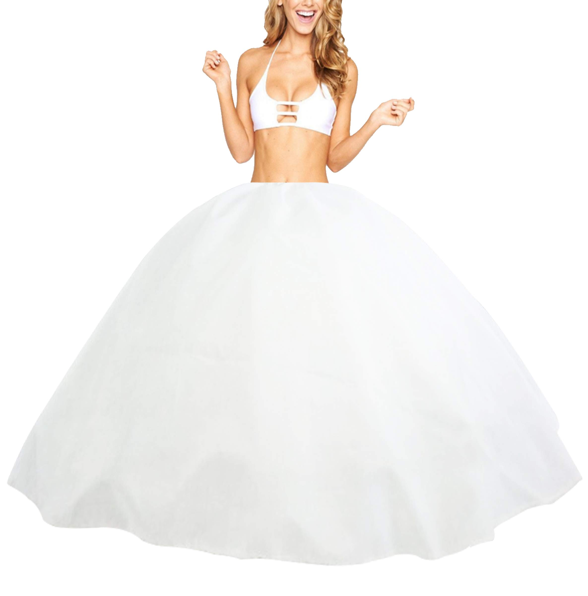 Petticoat quiceañera 5 Tulle Layers Netting Drawstring on Waist Top Taffeta 45 inches from Waist to Bottom