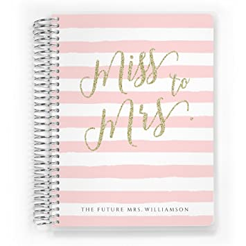 Customized Wedding Planner Custom Engagement Gift Organizer Bride Miss To