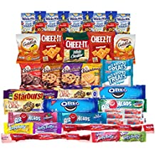 Snacks Care Package (Variety Pack of 40) Crackers, Cookies, Candy, Fruit Snacks, Healthy Protein Bars, and Nuts, Bundle Assortment Bulk Sampler