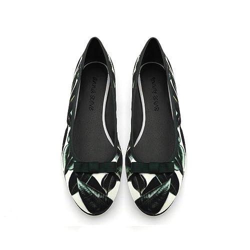 Estampado Tejido Y Amazon Olivas Zapatos es Complementos Bailarina z5RWH1BH