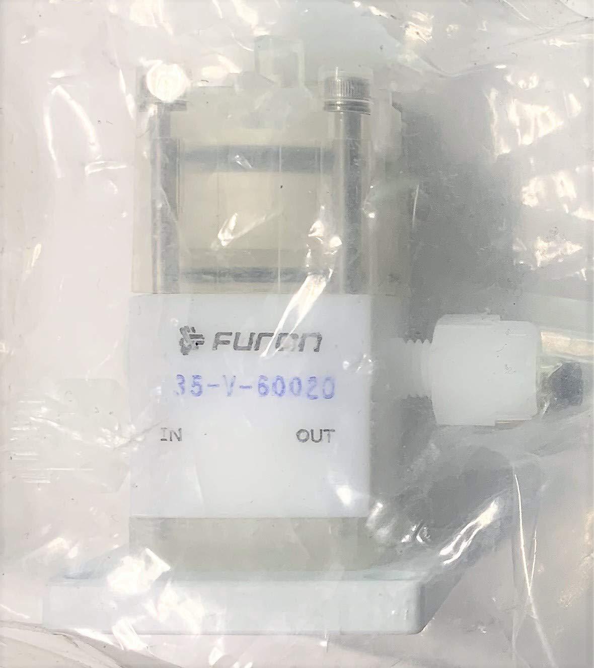 Furon 35-V-60020 3 Way Panel Mount PTFE Pneumatic Manifold Valve