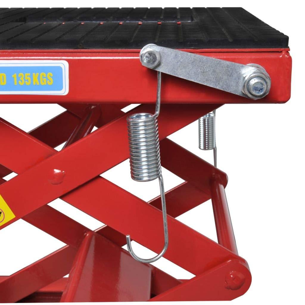 Sollevatore motociclo 135 kg con pedalo,barra di bloccaggio,valvola di rilascio