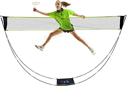 Badminton Netz 3 Höhen Badmintonnetz Federballnetz Volleyballnetz inkl Tasche 3m