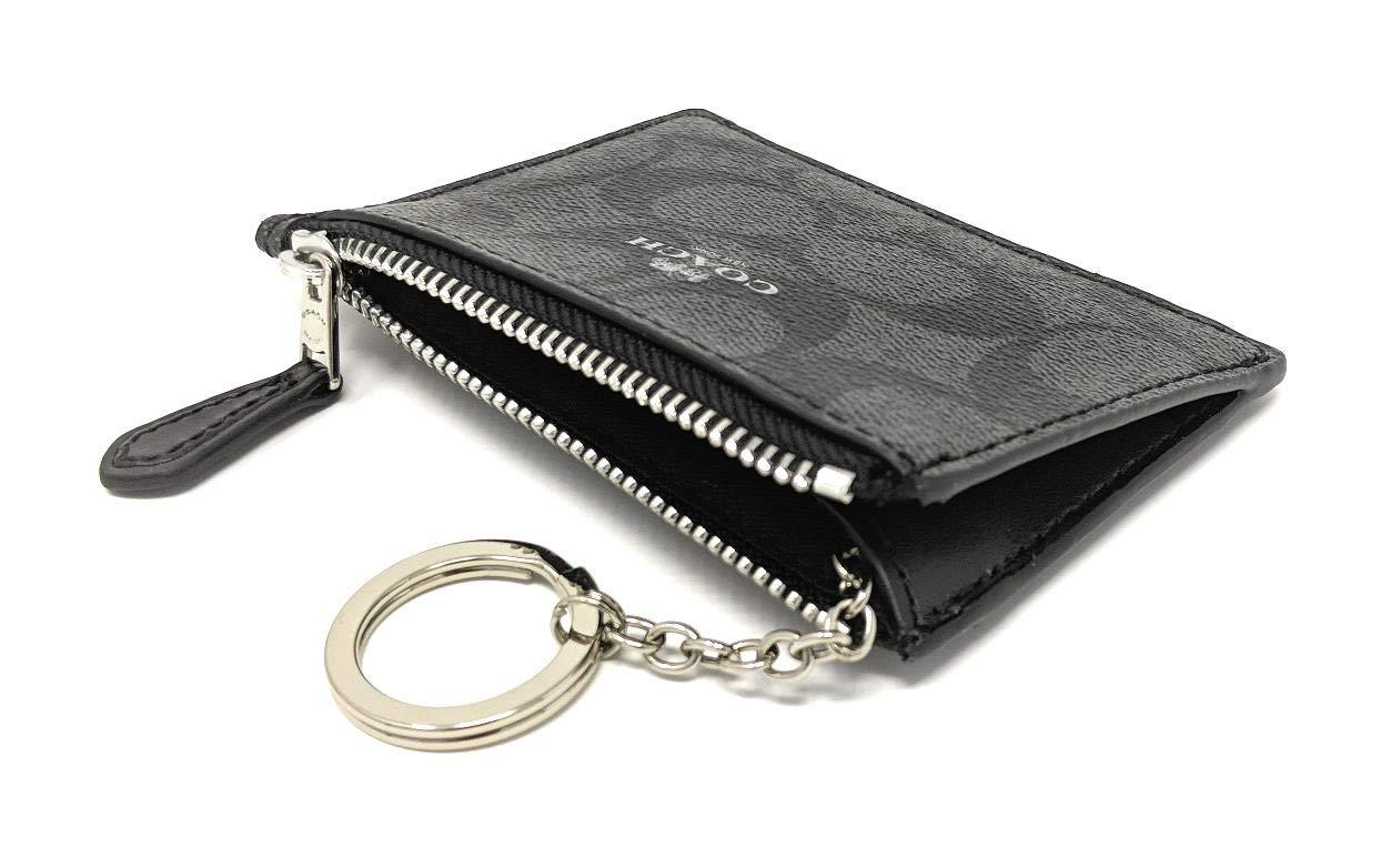 Amazon.com: Coach F16107 Mini Skinny ID Badge Key Ring caso ...