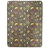 Mexican Party Fitted Sheet: Twin Luxury Microfiber, Soft, Breathable