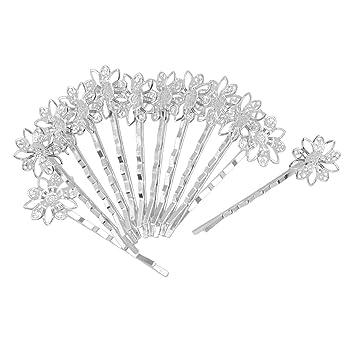 12 Stück Blume Filigrane Haar Clips Haarspange Haarklammer Haarclip Haarschmuck