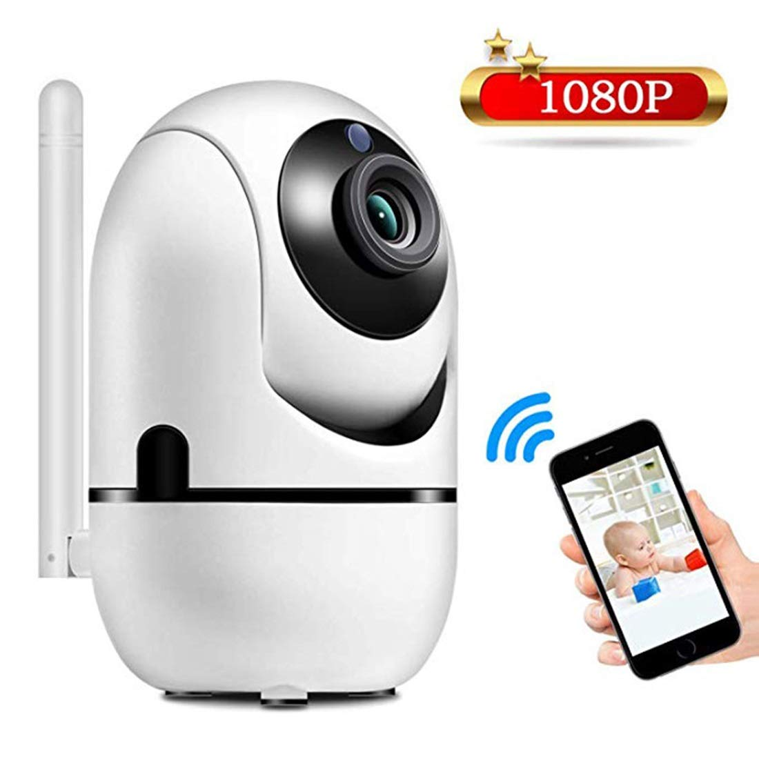 Carriemeow Smart Wireless WiFi Mobile Phone Remote Webcam Monitor Set Home Indoor Monitoring HD Night Vision