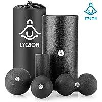 LYCAON Rodillo de Espuma para la recuperación Muscular del Tejido Profundo/Liberación miofascial/Pilates/Yoga/Crossfit/Fitness