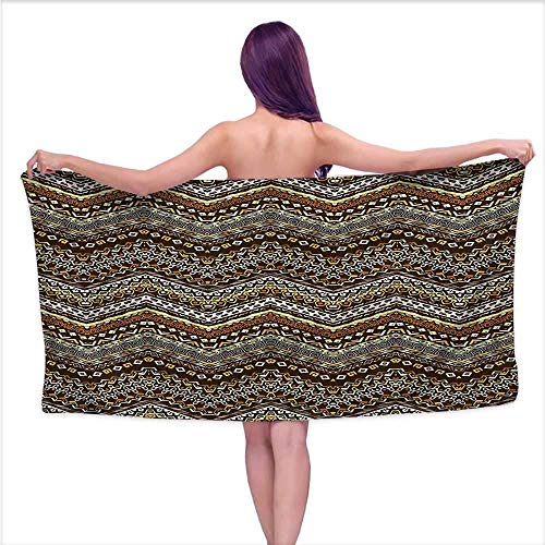 Soicky Bath Towels Large ZambiaAfrican Style Tribal,W31 xL63 for Baby Girl Duck Jacquard Bath Towel