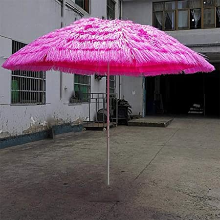 LHSUNTA 2.8m Imitación Paja Jardín Paraguas Anti-UV Impermeable Estilo Lona Mercado Paraguas Paraguas Plátano Paraguas al Aire Libre LDFZ: Amazon.es: Hogar