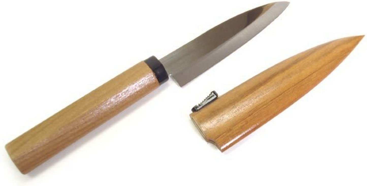 JapanBargain 1563, Japanese High Carbon Stainless Steel Fruit Knife, Paring Made in Japan, Natural