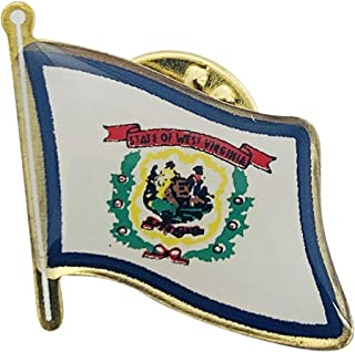 product image for West Virginia Single Waving State Flag Lapel Pin - Qty 1 - Made in USA!