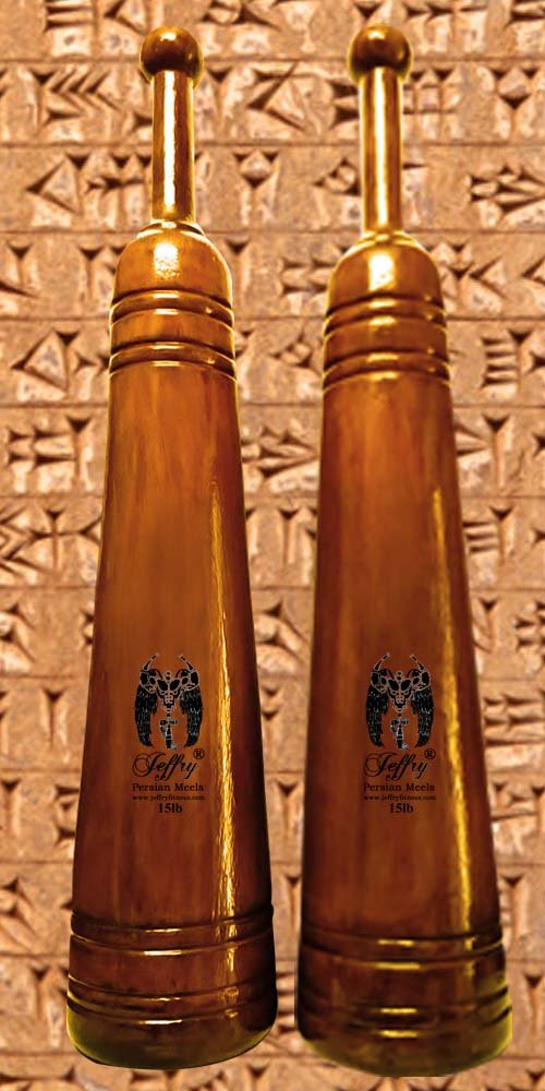Jeffry  Persian Meels 15lb Pair - Natural Finish - Classic Style