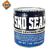 Atsko SNO-Seal Original Beeswax Waterproofing (7 Oz Net Wt/ 8 Oz Overall Wt) - 3 Pack