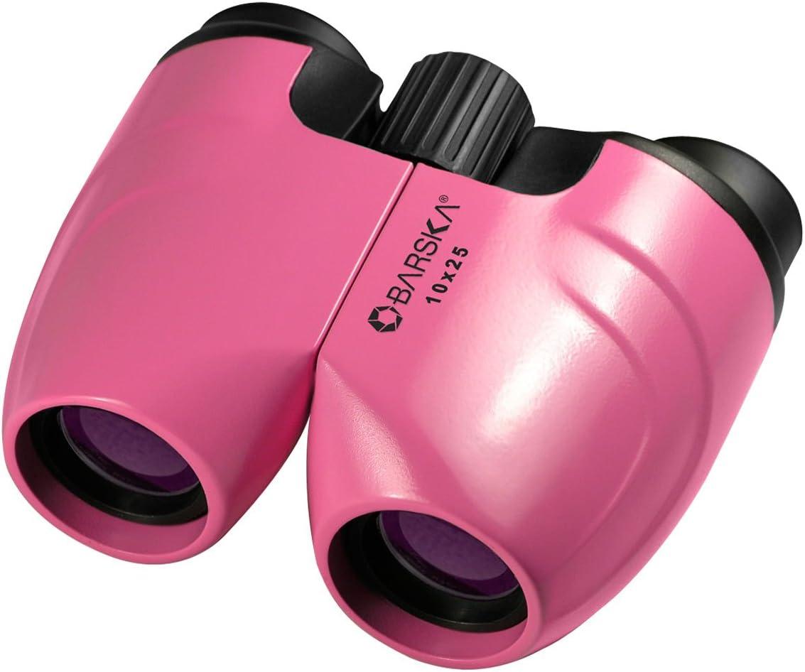 BARSKA 10x25 Pink Porro Binoculars