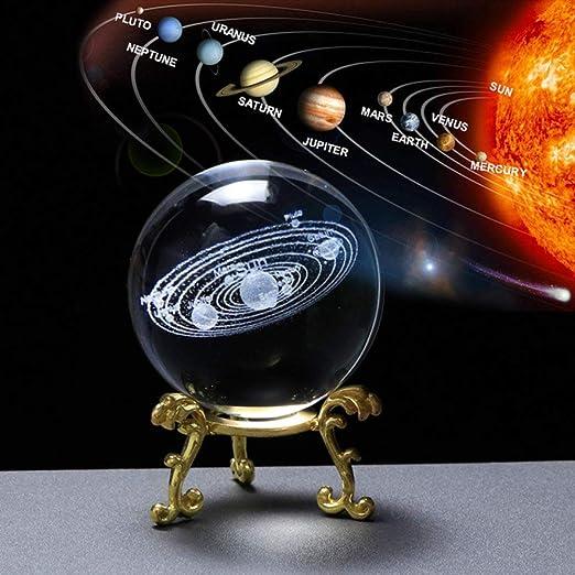 CHINASOS Bola de Cristal Sistema Solar 3D Bola de Cristal Planetas ...