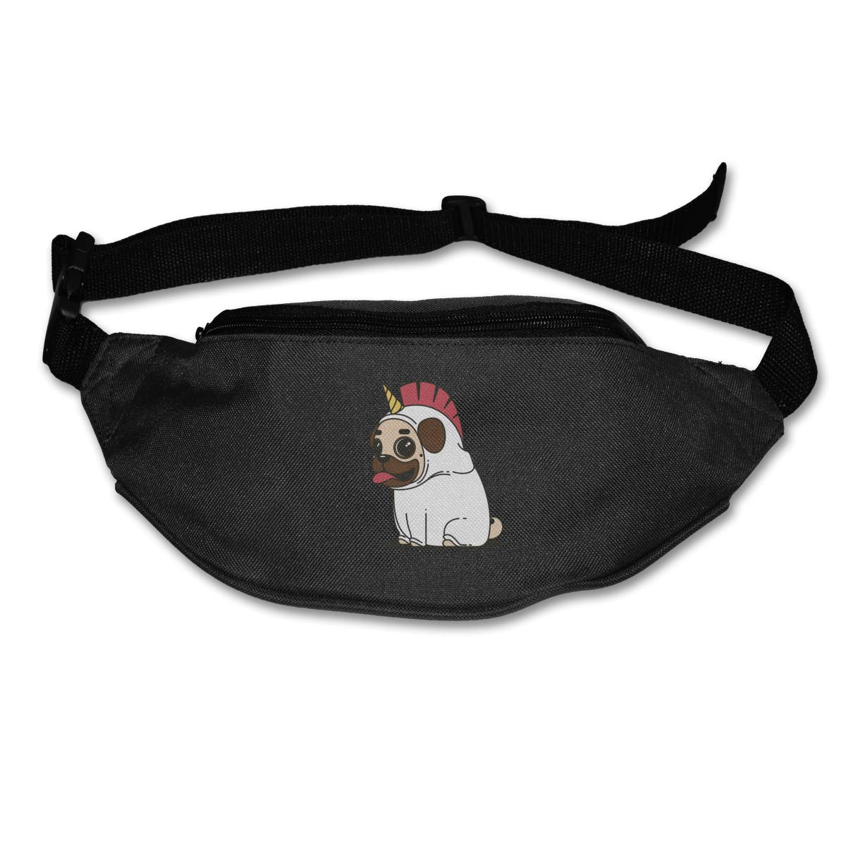 Lovely Unicorn Dog Sport Waist Packs Fanny Pack Adjustable For Run