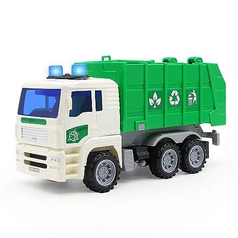 Camión Vehiculos Coches 3 5 Sonidos Obra Juguete 4 De Y Basura Led Niños Camion Luminoso Per Tl1cFKJ