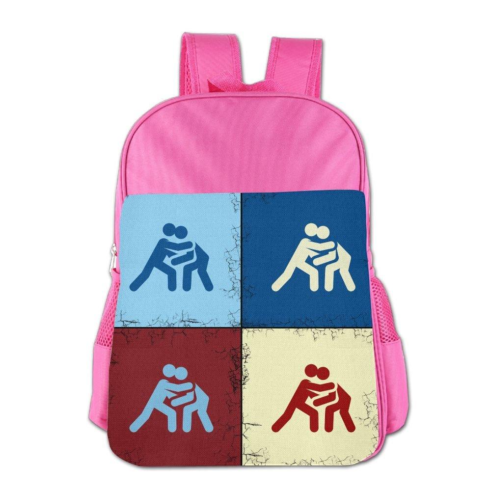 Clarissa Bertha Funny Catch Wrestling Pop Art School Girls Boys Teens Backpacks Bags