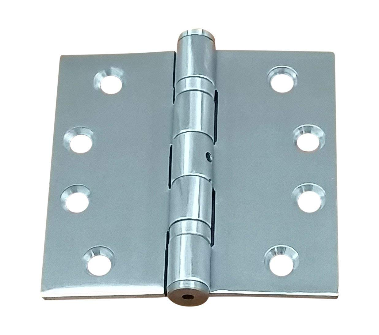 Commercial Ball Bearing Stainless Steel Door Hinges, 4.5'' X 4.5'' Square - NRP - 2 Pack