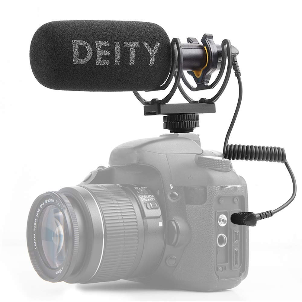 Deity V-Mic D3 Super-Cardioid Directional Shotgun Microphone with Rycote Shockmount and PERGEAR Cloth for DSLRs, Camcorders, Smartphones, Tablets, Handy Recorders, Laptop and Bodypack Transmitters by Deity