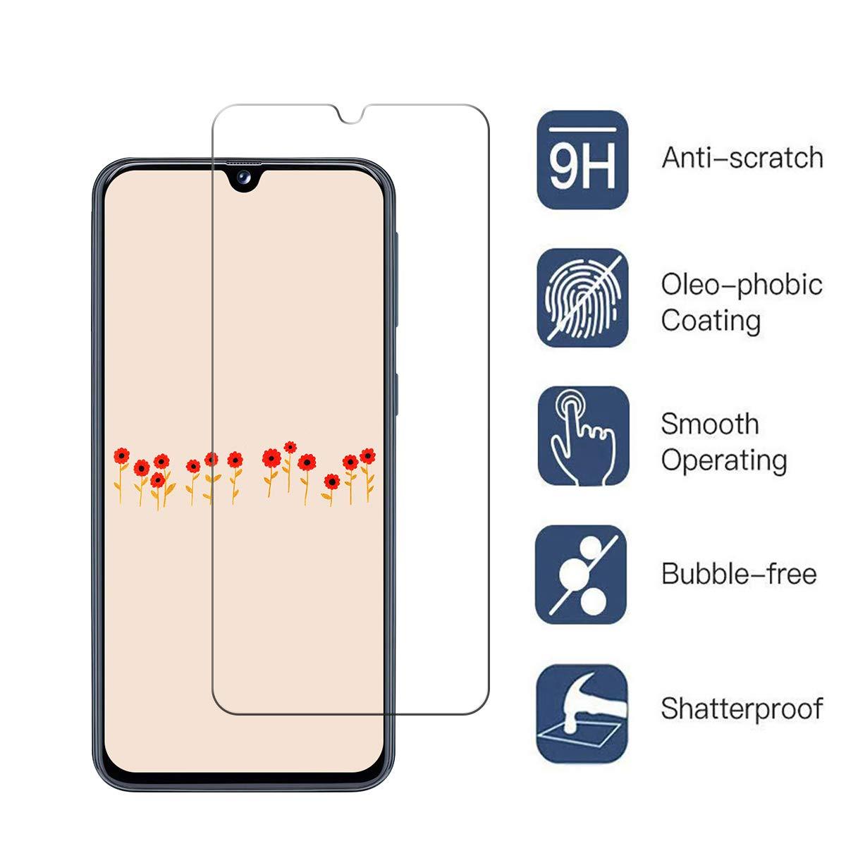 Protector Pantalla Galaxy A40 Satacnut 9H Dureza Anti-ara/ñazos Caja del tel/éfono TPU Galaxy A40,Anti-Choques 2 Piezas ,Cristal Templado Galaxy A40 Alta Definicion