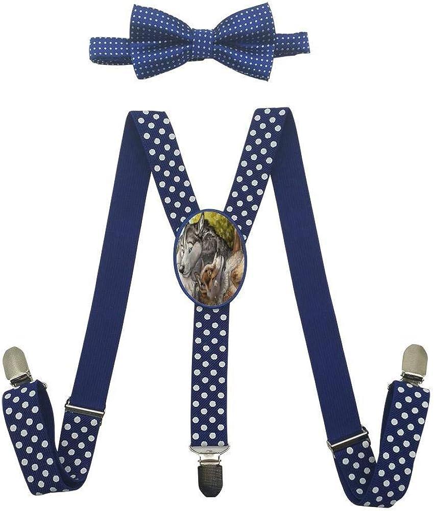 Grass Romantic Wolf Childrens Fashion Adjustable Y-Type Suspension Belt Suit