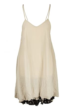 Kleid spitze knielang creme
