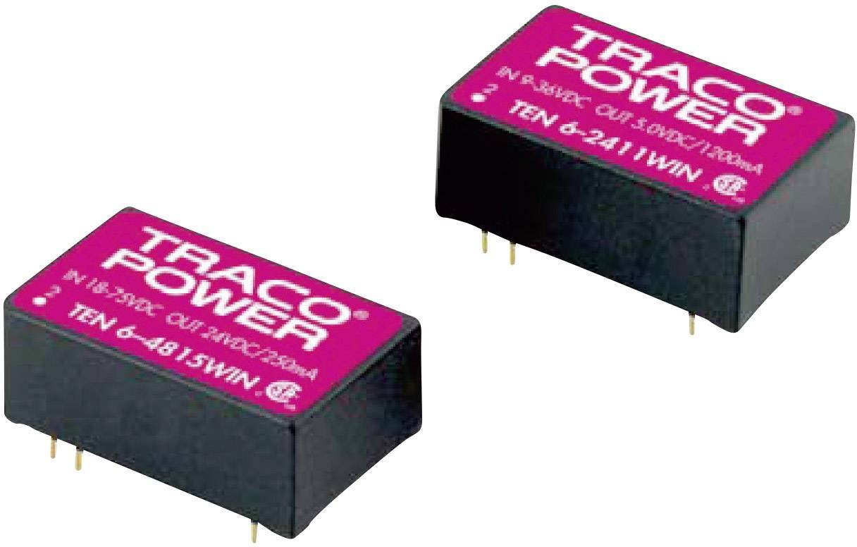 Converdeisseur automobile DC DC TracoPower TEN 6-2411WIN Nbr. de sorties  1 x 24 V DC 5 V DC 1.2 A 6 W 1 pc(s)