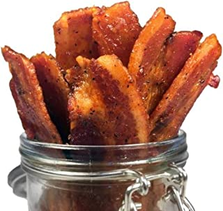 product image for Delicious Uncured Real Bacon Jerky Hand Crafted Small Batch Kickin' Sriracha MSG Free Nitrate & Nitrite Free (Kickin' Sriracha, 3 pack)
