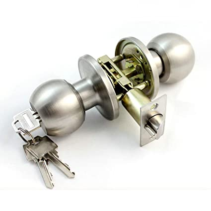 Door Handle Knob Lock Pull Ball Knobs Key Set Entrance