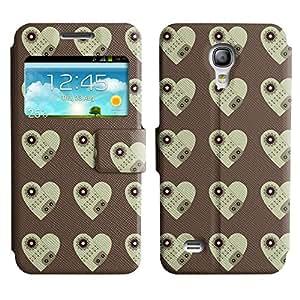LEOCASE corazón oscuro Funda Carcasa Cuero Tapa Case Para Samsung Galaxy S4 Mini I9190 No.1002870