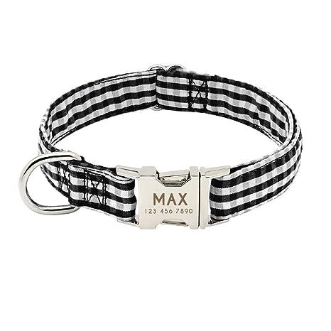 Shutianle Collar de Perro de Nailon con Collar de Perro ...