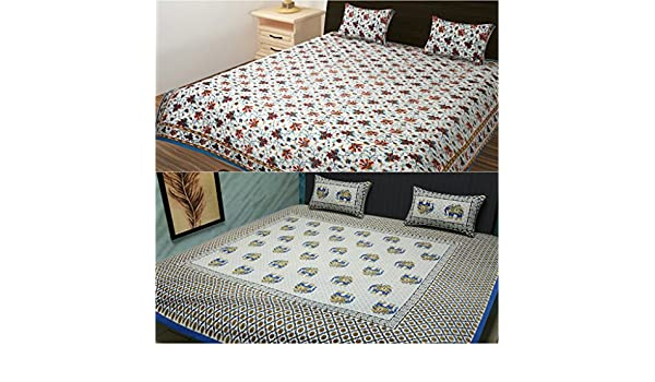 Multicolor 90 x 108 TRADITIONAL MAFIA RSES655024 Combo Bed Sheet Set