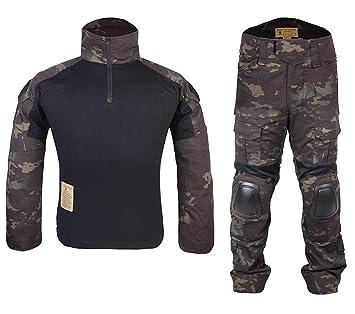 Homme Tenues de Combat Chasse Unifome Militaire Gen2 Tactique Uniforme  Multicam Black (S) f66d7d0f0f3