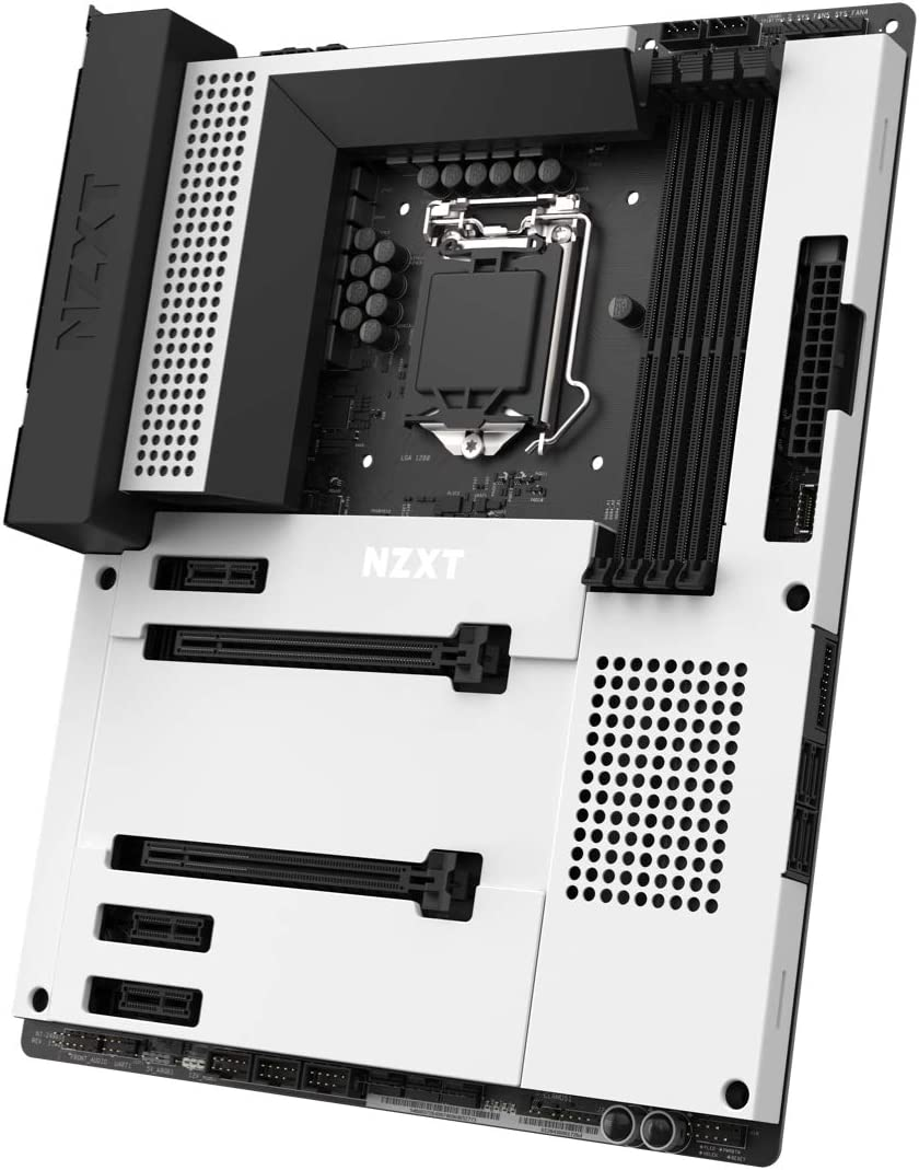 NZXT N7 Z490 - N7-Z49XT-W1 - Intel Z490 Chipset (Supports 10th Gen CPUs) - ATX Gaming Motherboard - Integrated I/O Shield - Intel Wireless-AX 200 - Bluetooth V5.1 - White