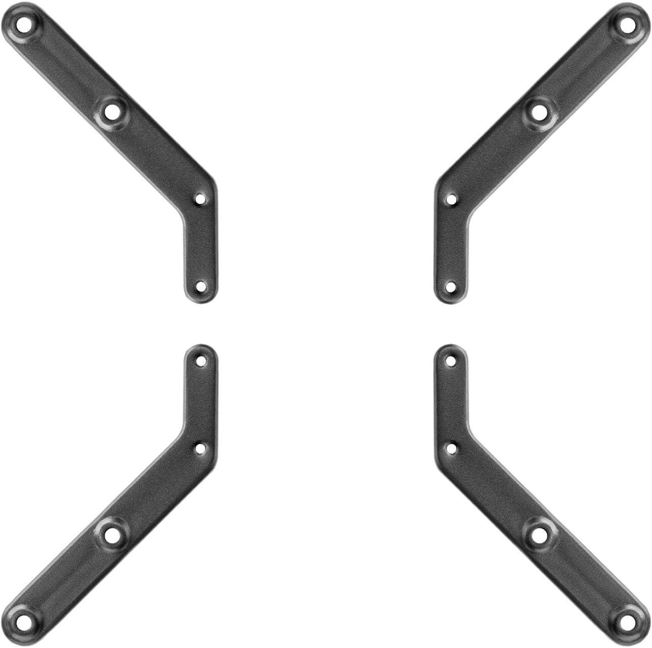 deleyCON Adaptador Universal VESA Extensión para Televisores y Monitores de Pared - hasta 30Kg - de VESA 200x200 a VESA 300x300 400x400