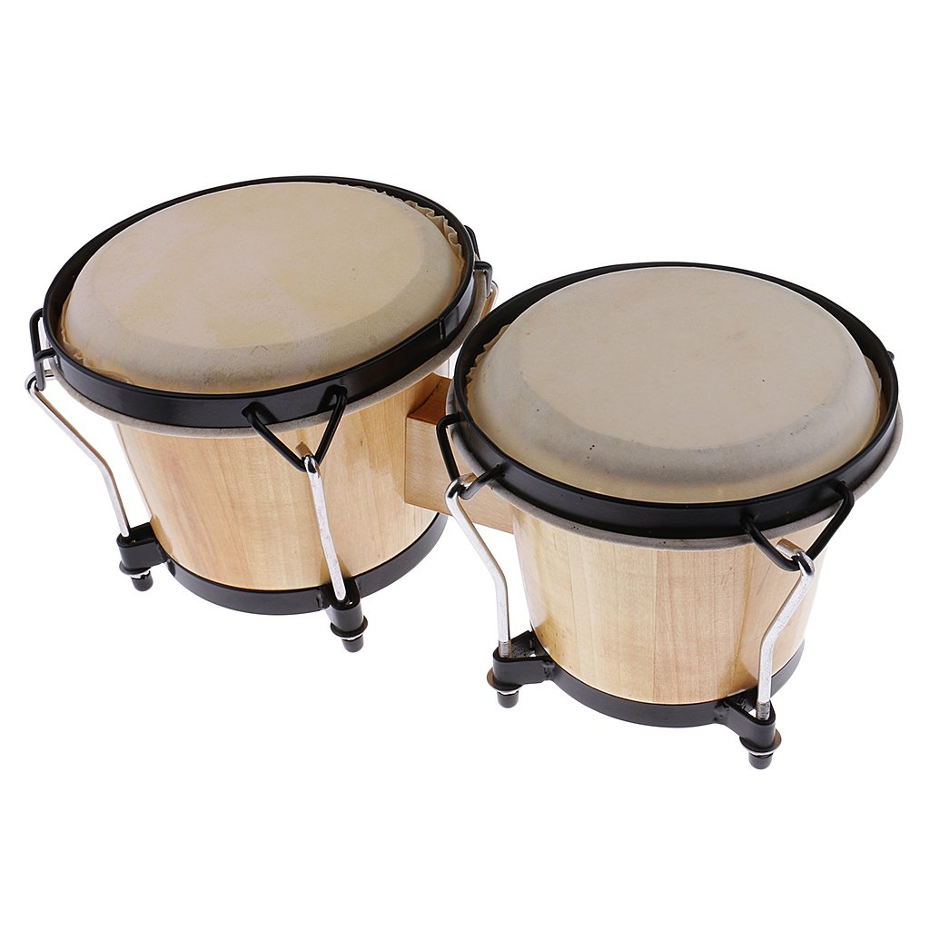 MonkeyJack Orff Instruments Bongos Drum Bongo Drummer African Drum Percussion for Adult Students Gift