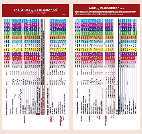 "The ABCs of Resuscitation® Pocket Chart (4"" x"