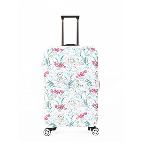47b4edde2e02 Amazon.com | Fvstar Floral Washable Luggage Cover Spandex Suitcase ...
