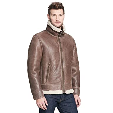 ea7e2580bbf3 Wilsons Leather Mens Rugged Genuine Lamb Shearling Coat at Amazon ...