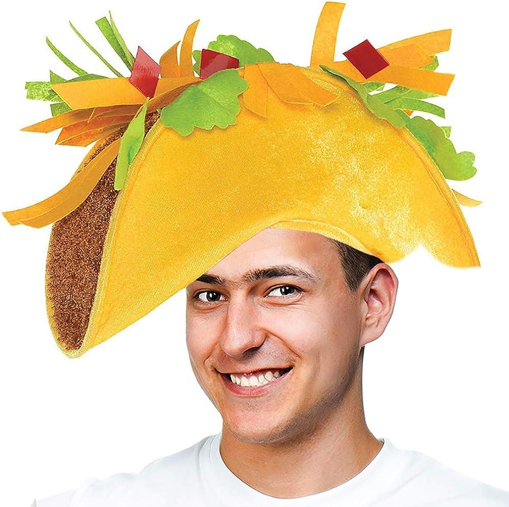 Tigerdoe Taco Costume Hat - Sombrero Headbands - Food Costumes - Costume Party Hat- Cinco De Mayo Hats - Fiesta Party (Taco Hat) Yellow