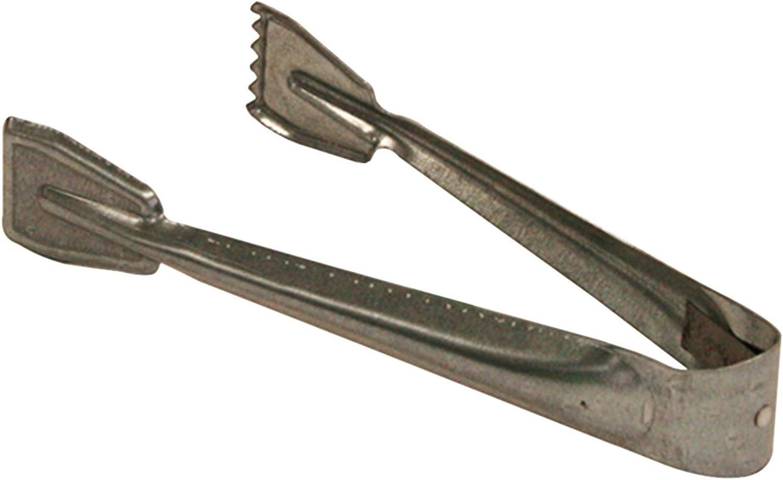 Kamino - Flam – Pinza para carbón (21,5 x 9 x 3,5 cm), Pinzas para chimenea, estufa o barbacoa, Alicate para carbón y leña, Tenaza de metal galvanizado para chimeneas – resistente y durable