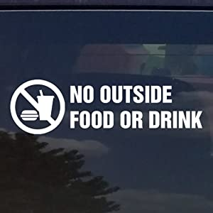 NO Food OR Drink Vinyl Decal/Sticker for Stores Businesses