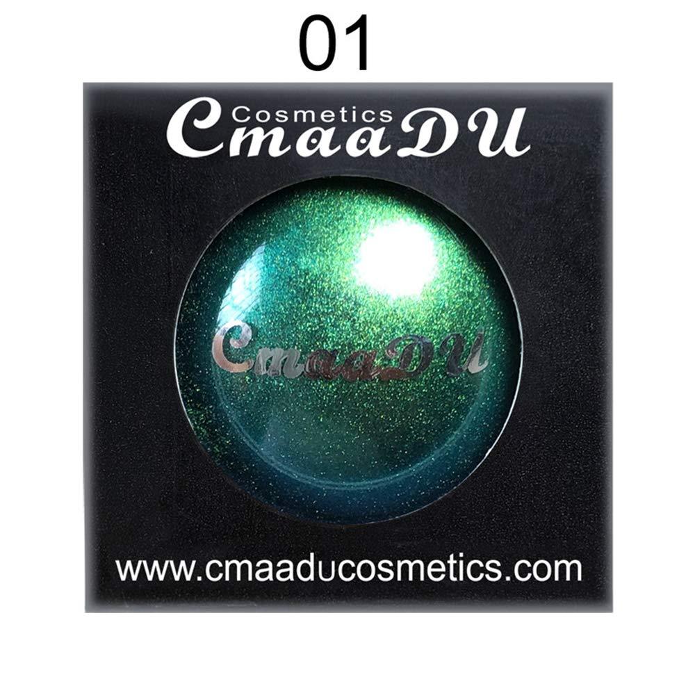 Cmaadu Polarized Glitter Eyeshadow Metallic Shimmer Change Color Eye Shadow Chameleon Eyeshadow Singe Color Eyes Makeup Powder (1)