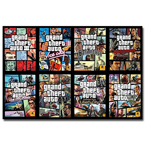 Lawrence Painting Grand Theft Auto V Video Game Gta 5 Art Canvas Poster Print Wall Pictures For Living Room 12