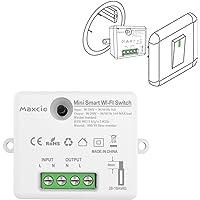 Maxcio Smart WiFi-switch, kompatibel med Alexa och Google Home, Smart Light Switch, röststyrning, fjärrkontroll med…