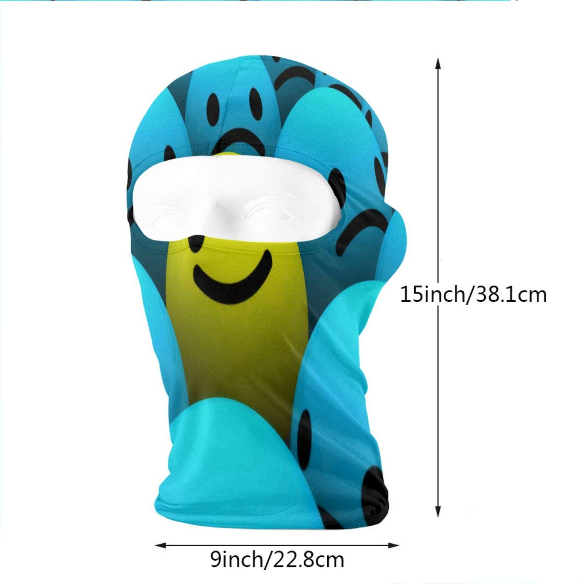 Balaclava Cute Valentine Emoji Full Face Masks Ski Headcover Motorcycle Hood For Cycling Sports Hiking