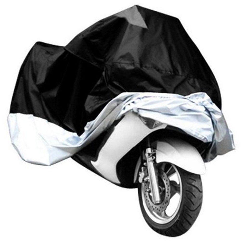schwarz und Splitter WINOMO Wasserdichte Motorrad Abdeckung resistent Regen UV Schutz atmungsaktive Abdeckung Outdoor Indoor mit Aufbewahrungstasche Gr/ö/ße M